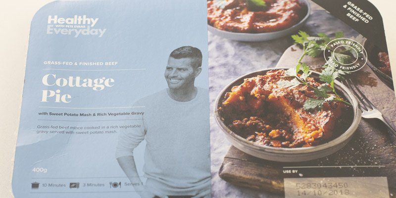 Healthy Everyday with Pete Evans Coottage Pie Review Box