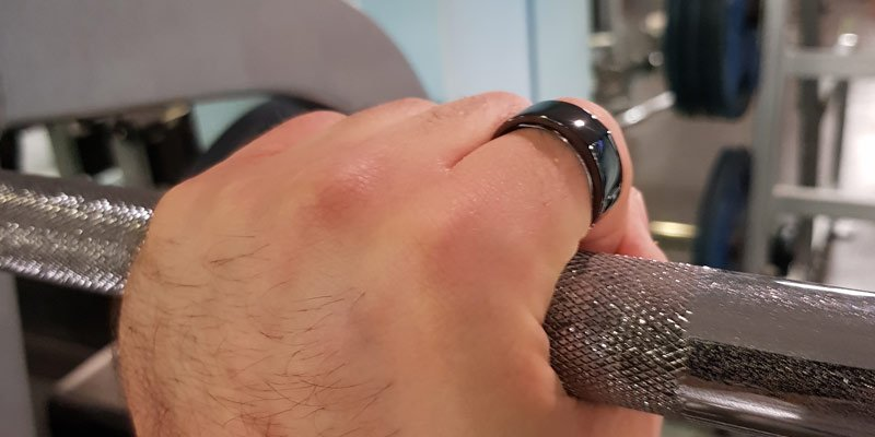Using the new oura ring while lifting weights
